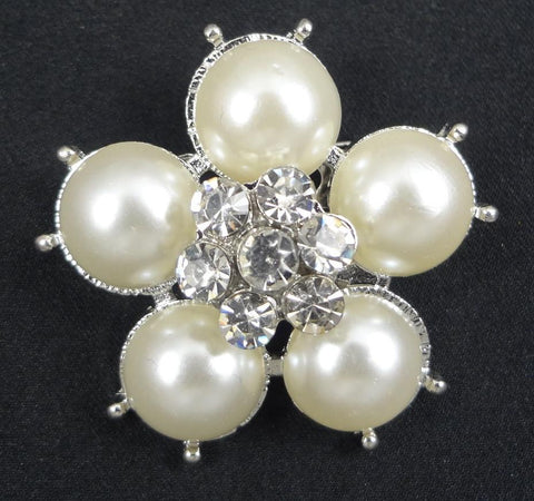 Crystal Pearl Brooch - FB0107 - Fancy Brooches
