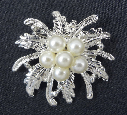 Wedding Pearl Brooch - FB0084 - Fancy Brooches