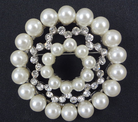 Pearl Brooch - FB0095 - Fancy Brooches