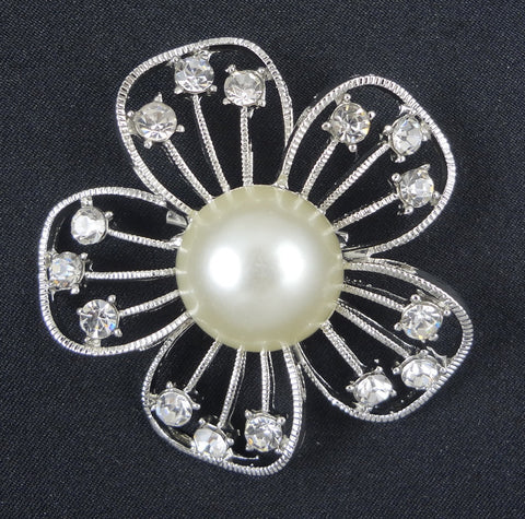 Crystal Daisy Brooch - FB0015 - Fancy Brooches