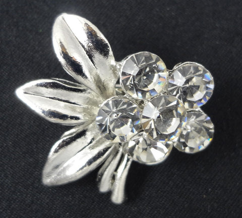 Crystal Flower Brooch - FB0019 - Fancy Brooches