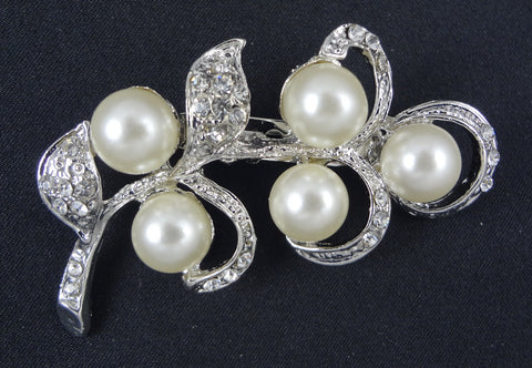 Wedding Pearl Brooch - FB0025 - Fancy Brooches