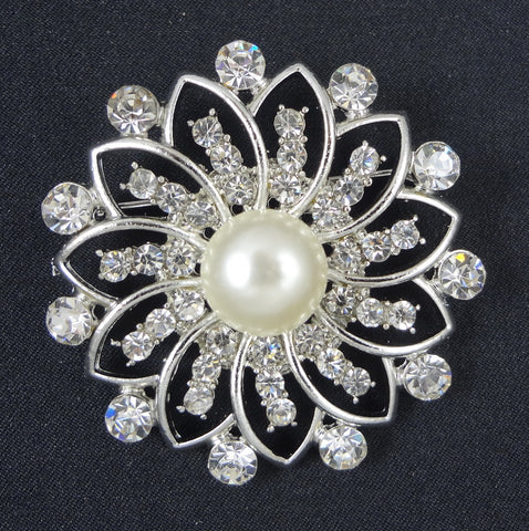 Wedding Pearl Brooch - FB0032 - Fancy Brooches