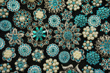 10-50 Crystal Blue/Turquoise Brooches and Buttons (lot #120) - Fancy Brooches - 1