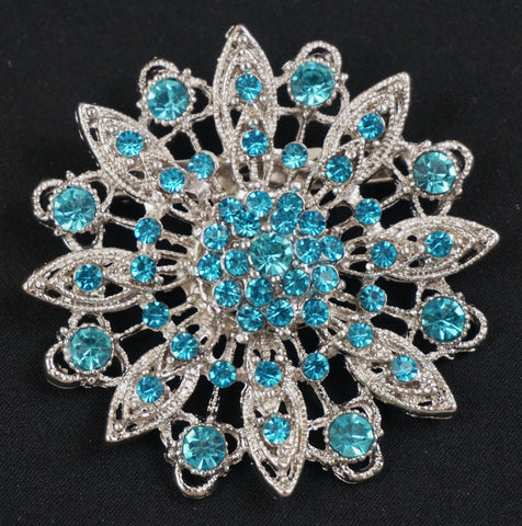 Flower Crystal Brooch  - FB0055 - Fancy Brooches - 1