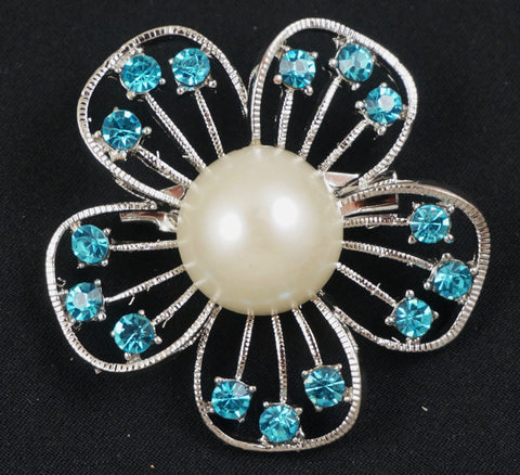 Crystal Daisy Brooch - FB0015-B - Fancy Brooches