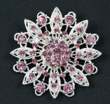 Flower Crystal Brooch  - FB0055 - Fancy Brooches - 2