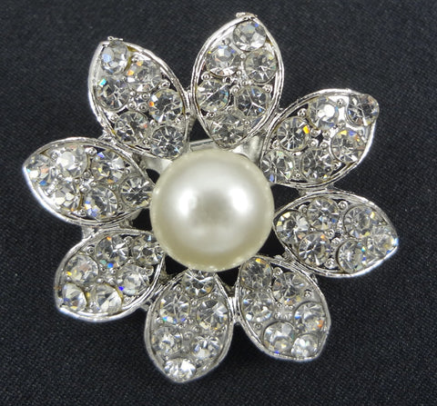 Wedding Pearl Brooch - FB0047 - Fancy Brooches
