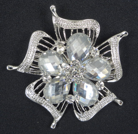 Crystal Brooch - FB0053 - Fancy Brooches