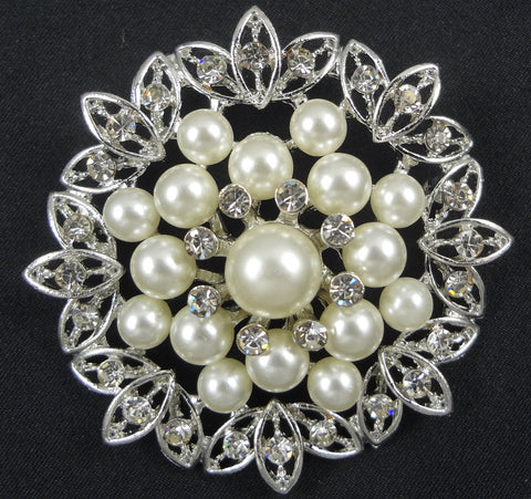Wedding Pearl Brooch - FB0071 - Fancy Brooches