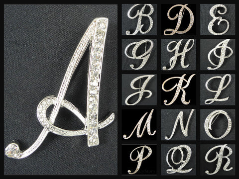English Letter Brooch Initials (A-Z) - Fancy Brooches - 1