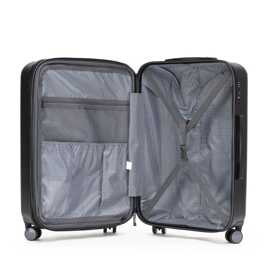 Tosca Tripster Carry On 55cm Hardsided Luggage - Black
