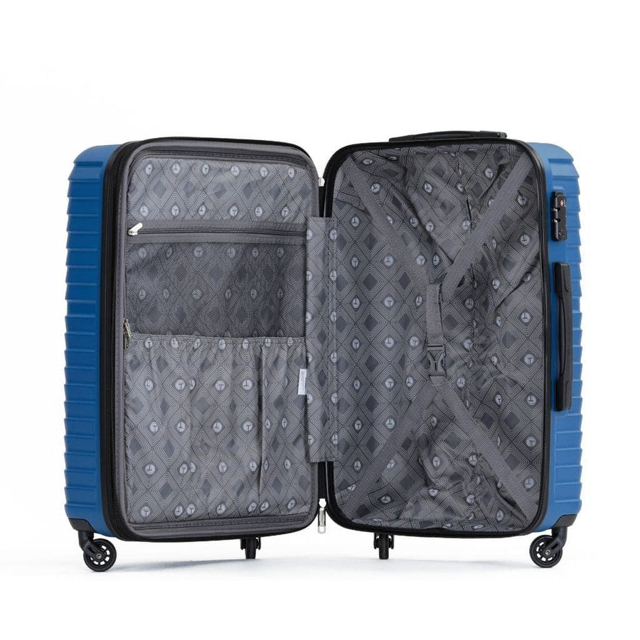 Tosca Huston 3 Piece Hardsided Suitcase Set - Blue