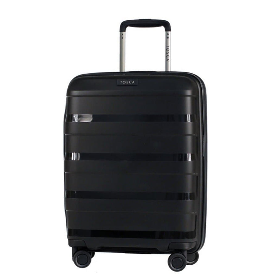 Tosca Comet 3 Piece Hardsided Suitcase Set - Black