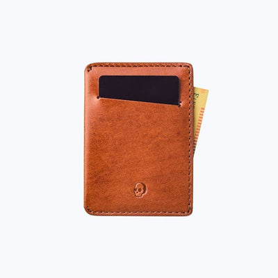 Bare Bones Elements Leather Wallet Vintage Brown