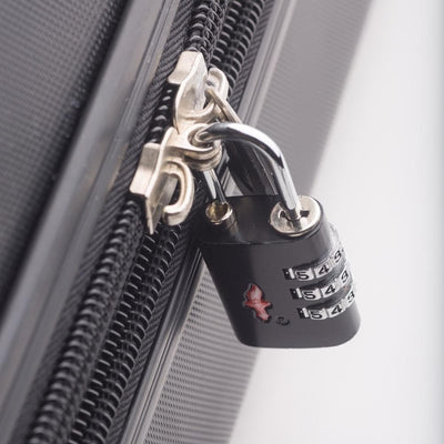 Buy Best Luggage Online - 2 x TSA Lock 3 Dial Single - Black - Love Luggage