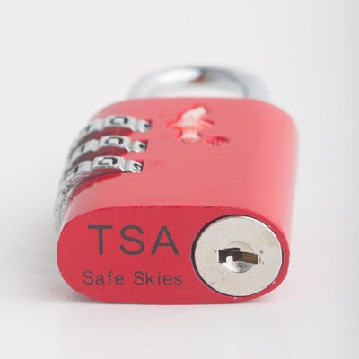 Buy Best Luggage Online - 2 x TSA Lock 3 Dial Single - Red - Love Luggage