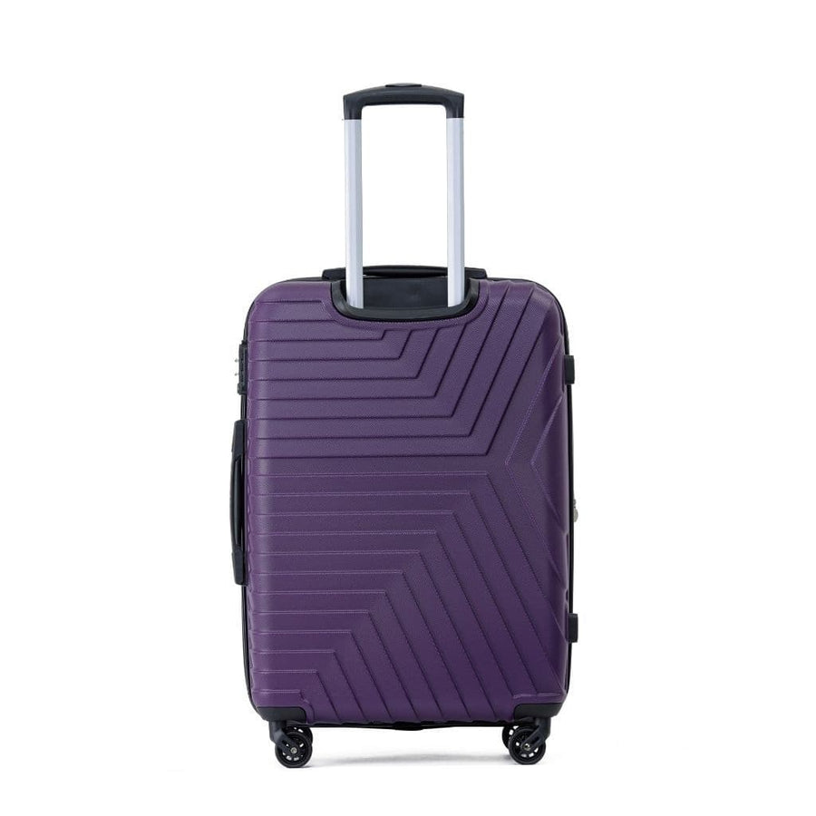 Tosca Huston 3 Piece Hardsided Suitcase Set - Purple