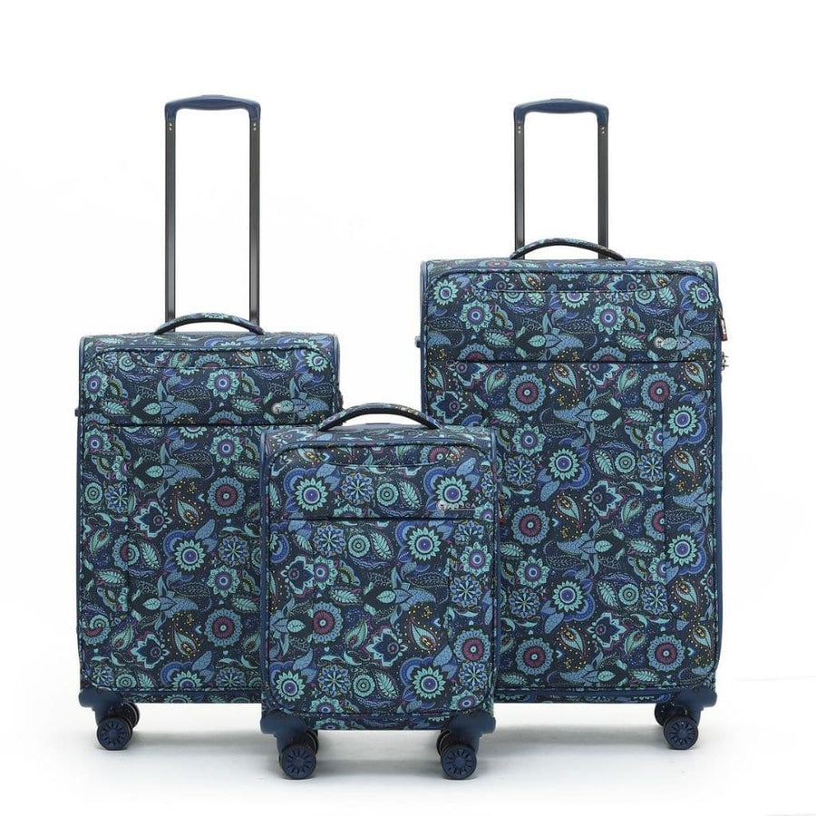 Tosca So Lite 3 Piece Softsided SuperLight Luggage Set - Paisley