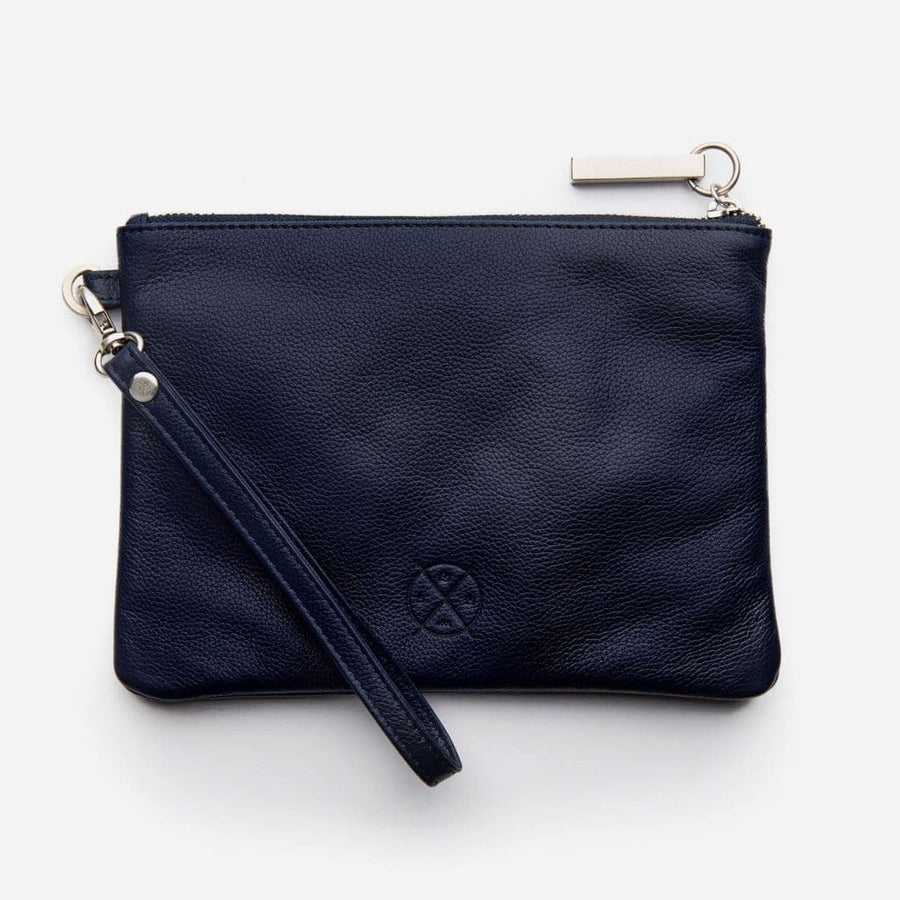 Stitch & Hide Cassie Clutch - Navy