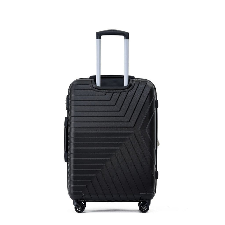 Tosca Huston 3 Piece Hardsided Suitcase Set - Black