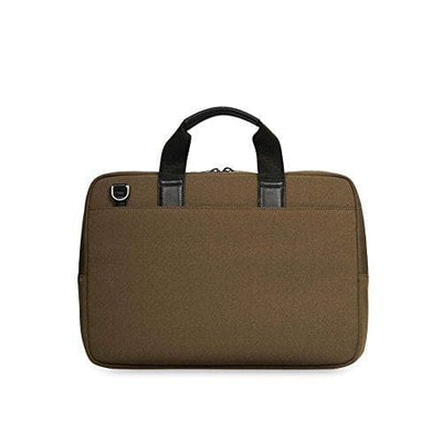 Knomo Maxwell 15 Slim Briefcase Messenger Bag Deep Army Green