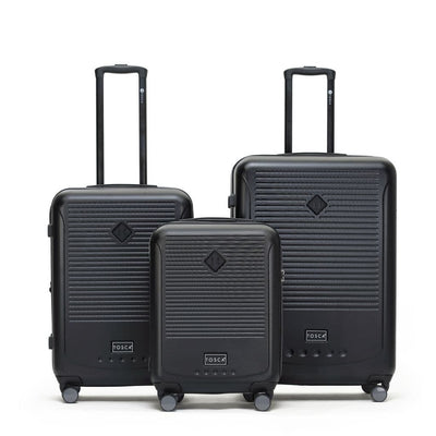 Tosca Tosca Tripster 3 Piece Hardsided Luggage Set - Black