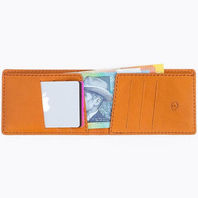 Bare Bones Standard Leather Wallet Tan