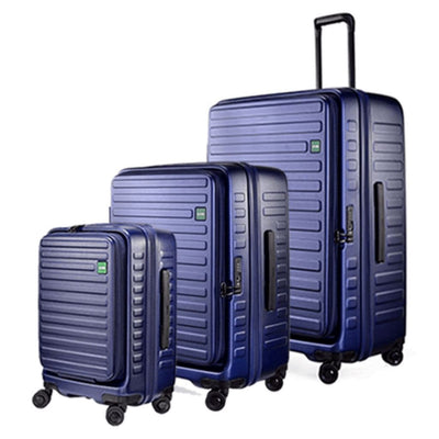 Lojel Luggage Lojel Cubo Hardsided Luggage Set of 3 - Navy