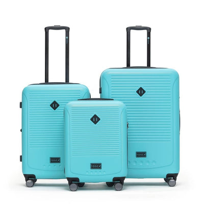 Tosca Tripster 3 Piece Hardsided Luggage Set - Mint