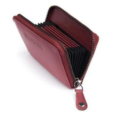 Stitch & Hide Hunter Leather Wallet - Cherry