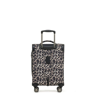 Tosca So Lite 3 Piece Softsided SuperLight Luggage Set - Leopard