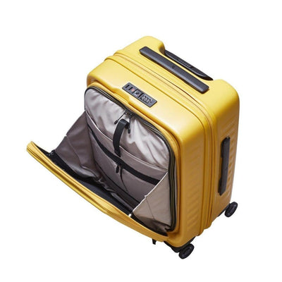 Lojel Cubo Carry On 54cm Hardsided Luggage - Mustard Yellow