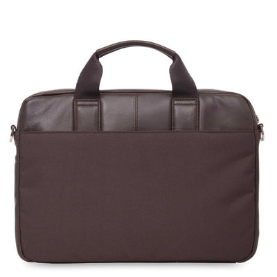 "Knomo Knomo Stanford Leather 13"" Laptop Messenger Briefcase - Brown"