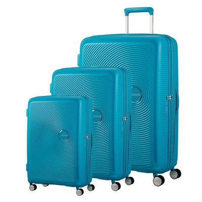 American Tourister Curio 3 Piece Expander Hardsided Luggage Set - Turquoise