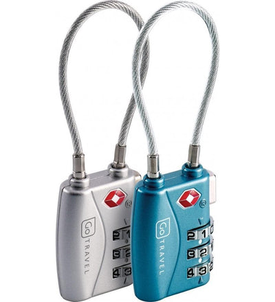 Go Travel COMBI CABLE TSA LOCK - 360 love luggage Go Travel