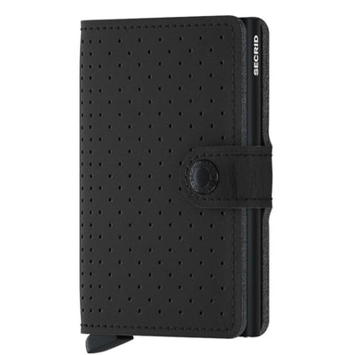 Secrid Secrid Miniwallet Black Perforated Leather