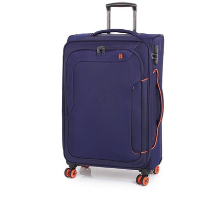 Best Luggage Brands Online - IT Luggage - Megalite Bold 2 Piece Softsided Luggage Duo - Navy - Love Luggage