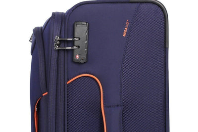 Best Luggage Brands Online - IT Luggage - Megalite Bold 55cm Carry On Softsided Luggage - Navy - Love Luggage