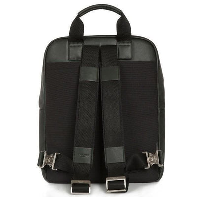 "Knomo Dale Leather 15"" Laptop Backpack - Black love luggage Knomo"