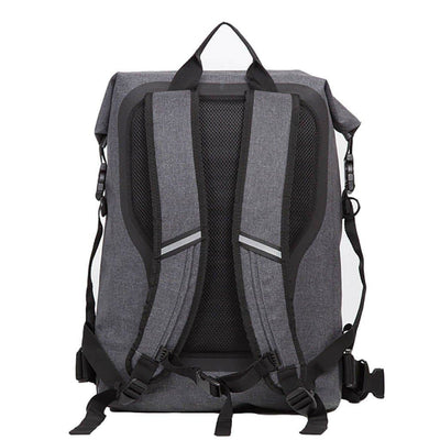 "Knomo Knomo Thames Cromwell Backpack 14"" Roll Top - Grey"
