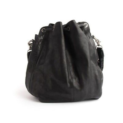 Stitch & Hide Stitch & Hide Long Beach Leather Shoulder Bag Black