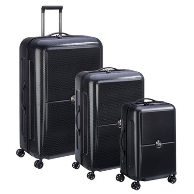 Delsey Turenne 3 PC Hardsided Luggage Set - Black