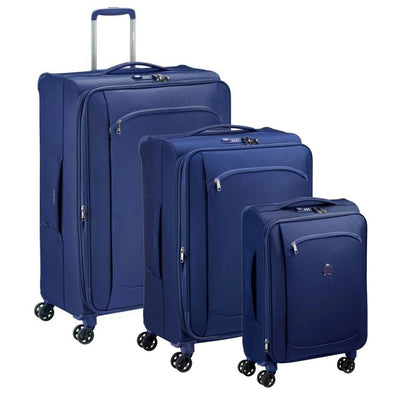 Delsey Montmartre Air 2.0 Softsided Luggage 3 Piece Set - Navy