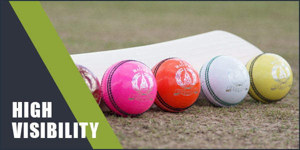 All hi-visibility cricket balls