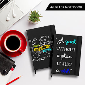 Black A6 Pocket Diary