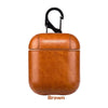 Leather Airpods Case - Light Brown-Hamee India