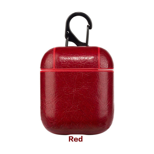 Leather Airpods Case - Maroon Red-Hamee India