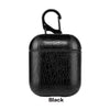 Leather Airpods Case - Charcoal Black-Hamee India