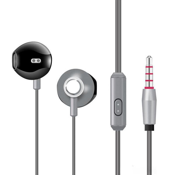 Silver - High Analysis HD Sound Earphones with Mic